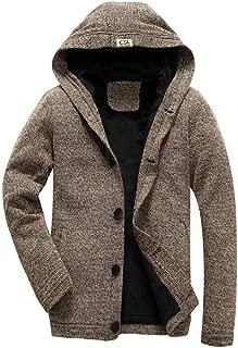 VECOLE Tendance Mode Peluche /Épaissir Hiver Super Chaud Pull /à Capuche Zipp/é Homme Manteau /à Manches Longues Sweat-Shirt Blousons