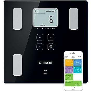 OMRON Healthcare VIVA Bilancia Smart e Misuratore della Composizione Corporea Bluetooth, con Calcolo di Grasso Corporeo, Peso, Grasso Viscerale, Muscolatura Scheletrica, Metabolismo Basale e BMI