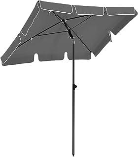 SONGMICS parasoll, 2 x 1,25 m, solskydd, rektangulärt trädgårdsparaply av polyester, med transportpåse, utan stativ, för t...