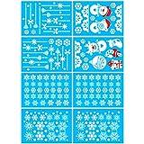 Schneeflocken Aufkleber, TedGem Schneeflocken Fensterbild, Weihnachtsdeko, Weihnachten Fensterdeko Set, DIY Weihnachtsdeko, Winter Dekoration für Türen, Schaufenster, PVC Fensterdeko Set und mehr - 7
