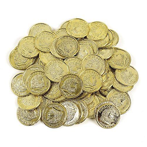 cama24com Piraten Goldtaler Spielgeld Aztekengold Schatzsuche Piratenparty Goldschatz 144 Taler Palandi®