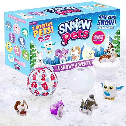 Be Amazing! Toys Snow Pets – Series 1 A Snowy Adventure – Surprise Fun Play Snow Pals for Kids Children – 3 Collectible Animal Figurines for Boys & Girls - Cute Pencil Toppers - Mystery Toys for Kids