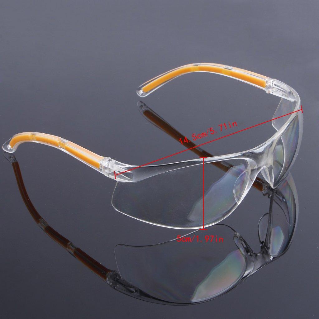 Catyrre Gafas de seguridad con luz UV, protección para los ojos, para laboratorios de trabajo, laboratorio, soldadura dental, antivaho, fuerte viento, nieve, partículas