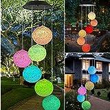 bloatboy Solarbetriebene Windspiel Licht Hängen Spinner Lampe Farbwechsel LED Lichterkette Garten Decor Gartenbeleuchtung (C)
