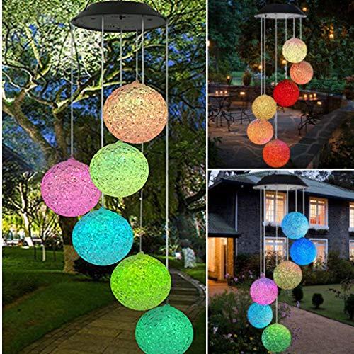 99native Solarlampen für außen, Solarleuchten für außen, Solarbetriebenes Windspiel Licht hängen Spinner Lampe Farbwechsel, LED Solarlampen [Energieklasse A+++] (Mehrfarbig)