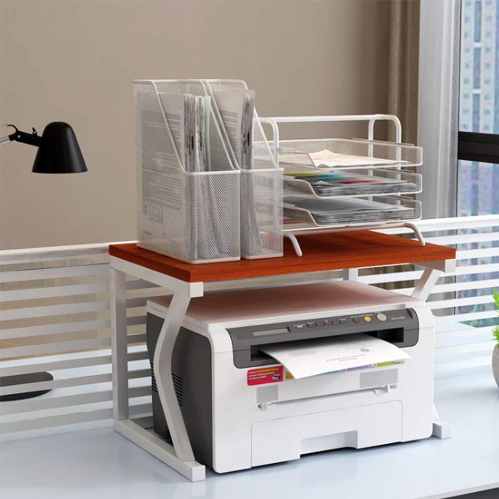 TXYJ Impresora Duradera del Estante del Estante De Escritorio De Almacenamiento En Rack Inicio De Impresora De Oficina Estante Multi-Capa Copia De Rack De Almacenamiento En Rack Turística,Teak: Amazon.es: Hogar