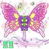 Tacobear Pompas de Jabón Automático Máquina Burbujas Varita Mágica de Mariposa con Música y Luz Soplador de Burbujas de Jabon Juego Al Aire Libre Verano Burbujas Juguete para Niños Niñas