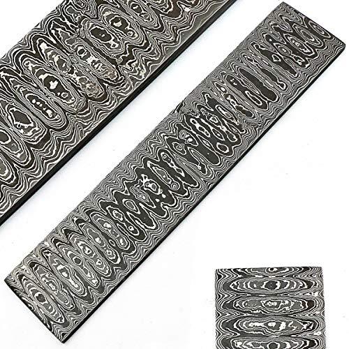 PAL 2000 9504 Laddermodel 30 cm x 5 cm x 2 mm Billetta/stang van damaststaal Fatta met de hand gemaakt voor het maken van messen en sieraden.
