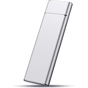 Jasmine Disco Duro Externo portátil Externo Ultra Delgado HDD Externo USB 3.0 Compatible con PC, Mac, Escritorio, portátil, Xbox One, Xbox 360, PS4 Plata 2 TB: Amazon.es: Electrónica