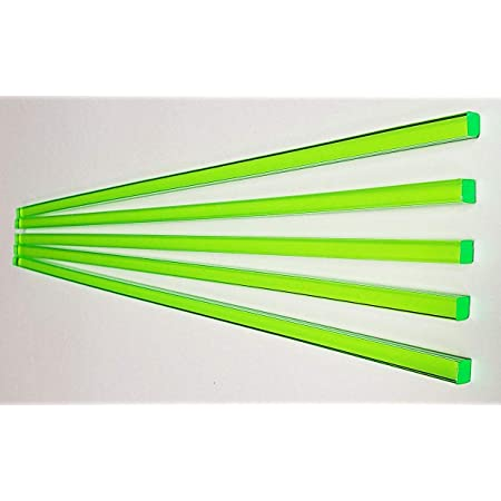 911RK #TN2R GPY 5 Pcs 1//4 Diameter by 18 Long Rods of Orange Translucent Fluorescent Extruded Acrylic