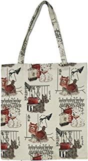 Signare Tapestry Reusable Grocery Eco Friendly Shopping Tote Bag in Dog Design (Fashion Dog)