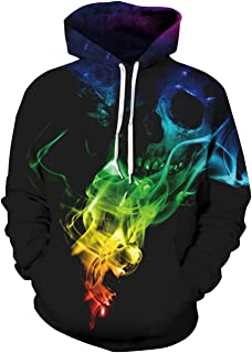 Goodstoworld Unisex 3D Graphic Printed Funny Cool Awesome Drawstring Pullover  Hoodie Sweatshirt Women Men bc94556bf230