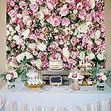 Daniu 7x5ft Rosa Flores Fondo de Pared Vinilo Fotografía Telones de Fondo Recién Nacidos Foto Prop para Estudio
