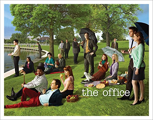 Culturenik The Office Georges Seurat Painting (Dunder Mifflin) Cast Group Workplace Comedy TV Television Show Poster Print, Unframed 11x14