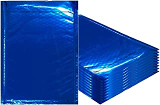 Amiff Bubble mailers 8.5 x 11. Padded envelopes 8 1/2 x 11. Exterior Size 9.5 x 12 (9 1/2 x 12). Peel & Seal. Glamour Metallic foil. Pack of 20 Blue Cushion envelopes. Mailing, Shipping, Packaging.