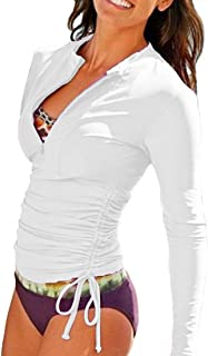 Women`s UV Sun Protection Long Sleeve Rash Guard Wetsuit Swimsuit Top
