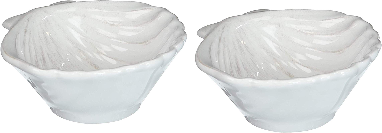 Set Of 2 Clam Sea Shell Bowls