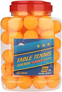 Orange Couleur Blanche Tbest 60 Pcs 3-Star 40mm Boules de Tennis de Table Boules de ping-Pong de Pratique Durable pour la Formation de la Concurrence Divertissement