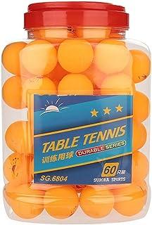 Alomejor Mesa de Ping Pong 60 Piezas, 3 Estrellas, 40 mm, Pelotas de Ping Pong para Entrenamiento de la Competencia, Entretenimiento