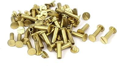 20 piezas M5 10//12//15 tornillos de encuadernaci/ón niquelados de hierro remaches para libro de cuentas /álbum de fotos encuadernaci/ón