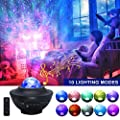 AZIMOM Starry Night Light Projector for Kids, Bluetooth Speaker Star Projector with 10 Lighting Modes, Music Player &Timer, Star Light Projector for Decor Party Wedding Birthday