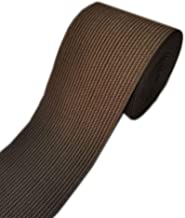 Ninepeak Elastic Bands Spool Sewing Band Flat Elastic Cord, Dark Brown, 5 Yards (2 Inch)