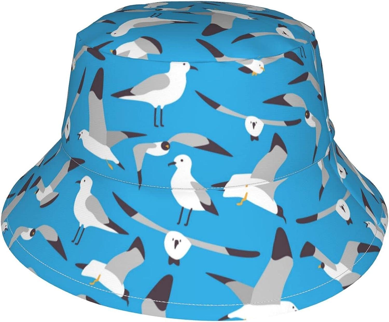 Toddler Bucket Hat Seagull Pattern Ha Popular standard Outdoor New product! New type Cute Beach Sun