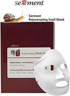 [Serment] Korean Cosmetics Serment Rejuvenating Snail Mask 10pcs for Brightening, Anti-wrinkle, Skin Tightening With Advanced Super Liposome technology