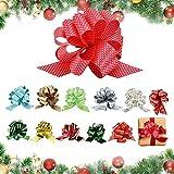 AFASOES 12 Pcs Lazos de Navidad para Regalos Lazos de Cinta Regalo para Decoración de Nav...