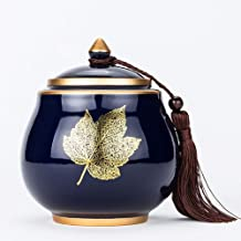 Urns Urns for Ashes Adult Cremation Ashes Urn Moisture-Proof Sealed Ceramic Maple Leaf Ashes 14.512cm,,Commemorate