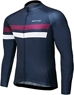 Wantdo Men's Long Sleeve Cycling Jerseys Biking Shirt Breathable Quick Dry Road Mountain Bicycle Jacket