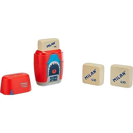 MILAN Blíster afilaborra COMPACT Shark attack + 2 gomas de recambio (BYM10435)