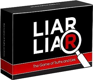 LIAR LIAR - بازی حقیقت ها و دروغ ها - بازی های مهمانی دوستانه برای خانواده - بازی کارت برای همه سنین - بزرگسالان ، نوجوانان و کودکان