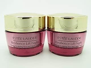 Lot 2 x Estee Lauder Resilience Lift Night Face & Neck Creme 0.5 oz each