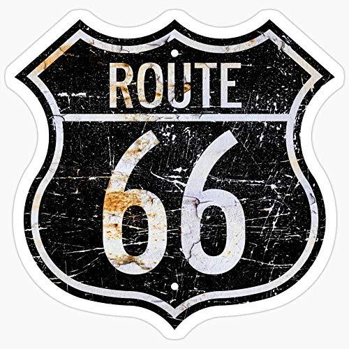 Lplpol Route 66 Aufkleber für Wasserflasche, Computer, Wand, Skateboard, Motorrad, 10,2 cm, 3 Stück