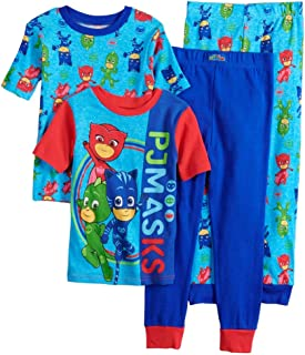 PJ Masks Boys' 4-Piece Cotton Pajama Set