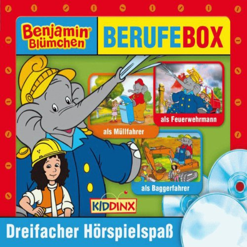 Benjamin Blümchen: Berufebox                   By:                                                                                                                                 Elfie Donnelly,                                                                                        Ulli Herzog,                                                                                        Klaus-Peter Weigand                               Narrated by:                                                                                                                                 Jürgen Kluckert,                                                                                        Katja Primel,                                                                                        Joachim Nottke                      Length: 1 hr and 53 mins     Not rated yet     Overall 0.0