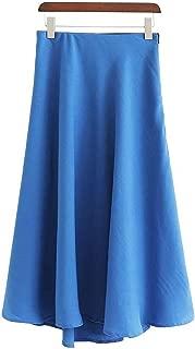 Skirt Elastic Waist Fly Design Female Summer Holiday Wear A Line Skirts