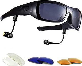 dccn bluet oothe Cámara Gafas Cam Gafas de sol polarizadas con cámara UV400Stereo Bluetooth Headset auriculares para iPhone/Android Teléfono Móvil para rueda de bicicleta moto bike
