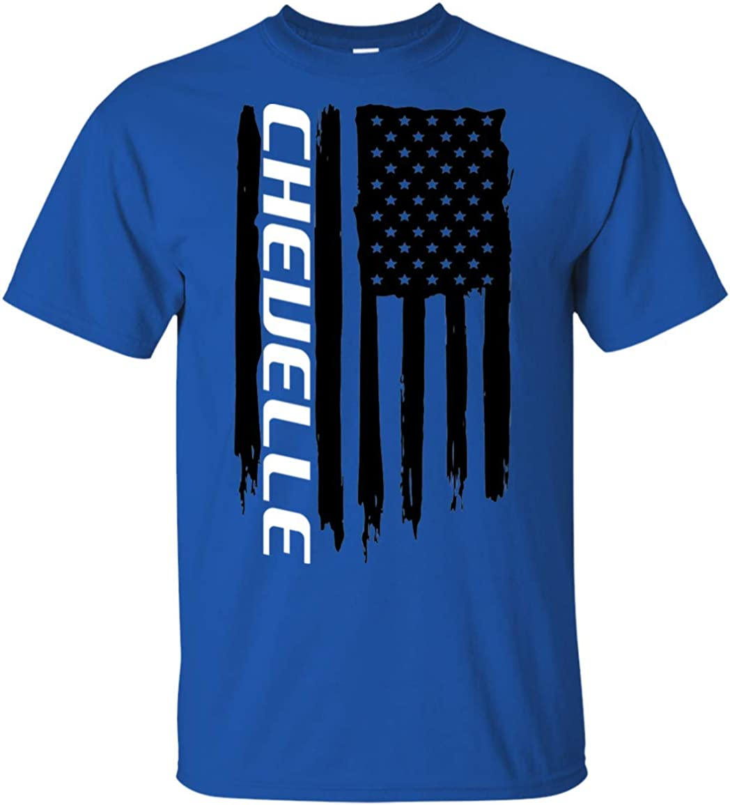 WheelSpinAddict Men's Super beauty Max 87% OFF product restock quality top Chevelle T-Shirt Flag USA