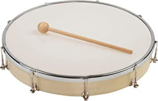 HABA Hand Drum Kids Percussion Wood Frame Drum with Drum Stick | Musical
