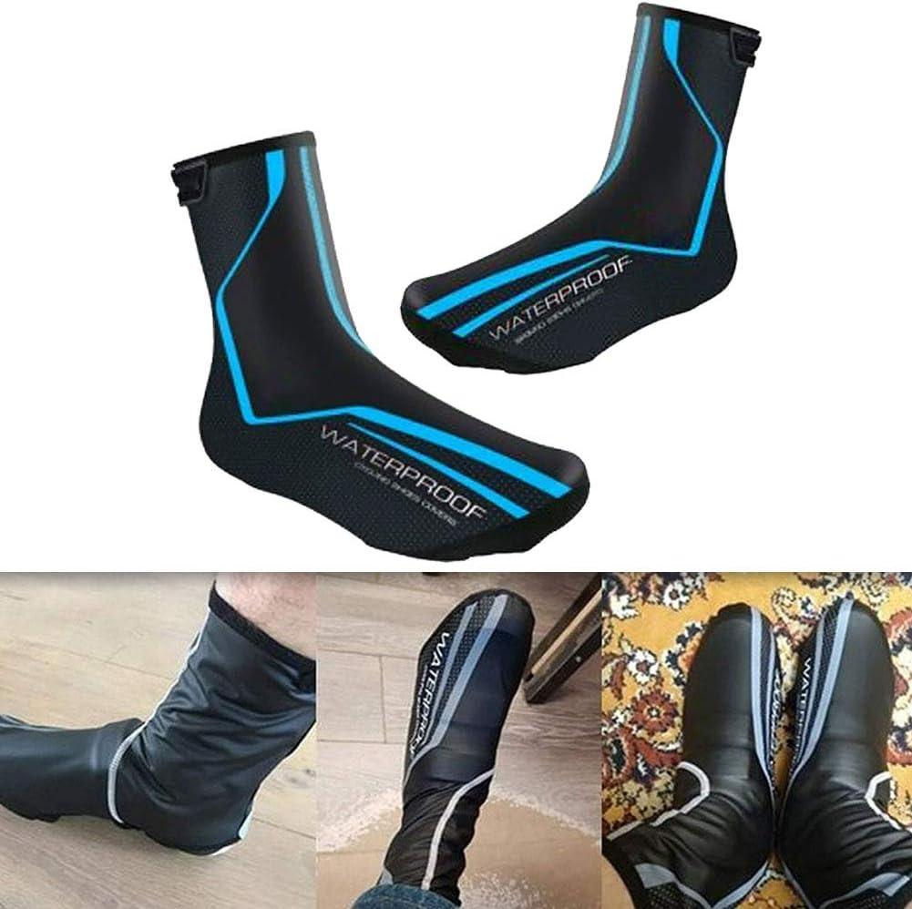 Couvre-Chaussures dhiver Cyclisme Chaussures Chaudes Thermorelieuses pour Hommes Femmes Cyclisme Surchaussures Route VTT V/élo Coupe-Vent Bottillons