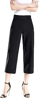 Womens Shorts Knee Length Stretch Elastic Waist Slim Fit Comfortable Pull on Dress Pants