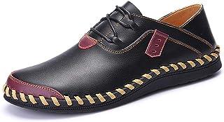 Casual Oxford para los hombres Masines de la moda Encaje Encaje un resbalón cómodo en Pisos Zapatos Stitch Cuero Cuero Sup...