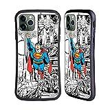 Head Case Designs Licenciado Oficialmente Superman DC Comics Vuelo Arte del cómic Carcasa híbrida Compatible con Apple iPhone 11 Pro MAX