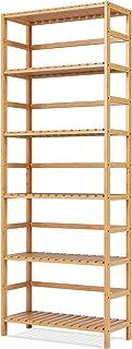 comprar comparacion Homfa Estantería Bambú para Baño Bastidores para Plantas Estantería Almacenaje para Cocina de 6 Niveles 60x26x161cm