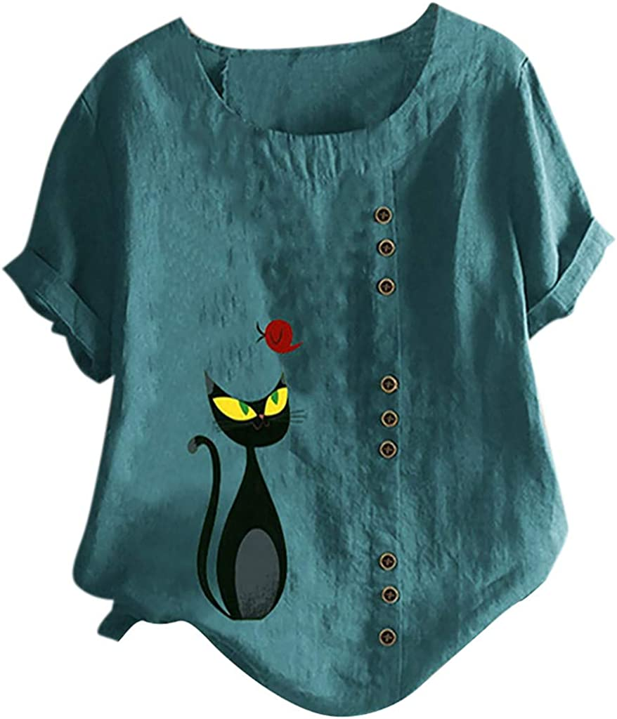 Artistic blouse with fun cat design Cat lover gift Cat shirt. Long sleeves blouse Autumn t shirt H\u0430\u043dd painted blouse with cats in love