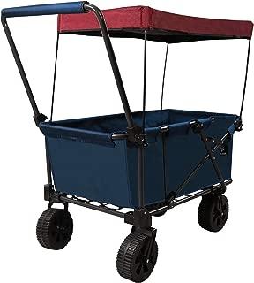 REDCAMP Folding Beach Wagon Cart with Big Wheels - 2.6