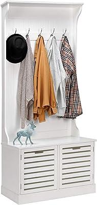 Amazon.com: LANGRIA Standing Entryway Coat Rack Coat Tree ...