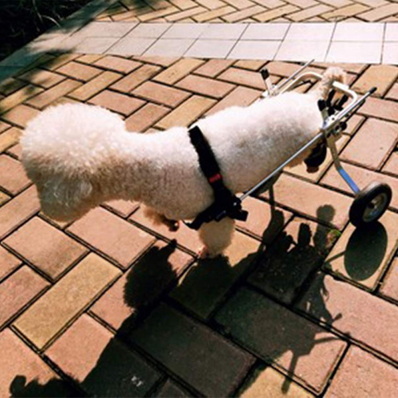 JXJL Adjustable Dog WheelchairHind Leg Rehabilitation For Handicapped Dog, 2wheel Stainless Steel Cart Pet,XS